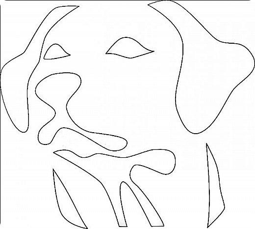 """Несколько лет ждала эта очаровательная собачка своей очереди,  обитая в моих """"картиночных"""" запасах...  Нарисовала шаблончик. И вот она - моя симпатяга - такая получилась. фото 15"""