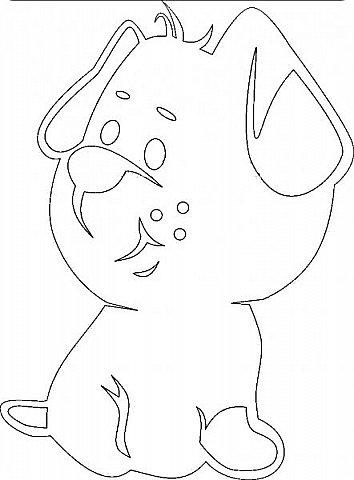 """Несколько лет ждала эта очаровательная собачка своей очереди,  обитая в моих """"картиночных"""" запасах...  Нарисовала шаблончик. И вот она - моя симпатяга - такая получилась. фото 16"""