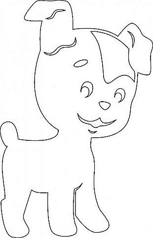 """Несколько лет ждала эта очаровательная собачка своей очереди,  обитая в моих """"картиночных"""" запасах...  Нарисовала шаблончик. И вот она - моя симпатяга - такая получилась. фото 18"""