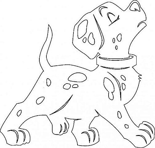 """Несколько лет ждала эта очаровательная собачка своей очереди,  обитая в моих """"картиночных"""" запасах...  Нарисовала шаблончик. И вот она - моя симпатяга - такая получилась. фото 7"""