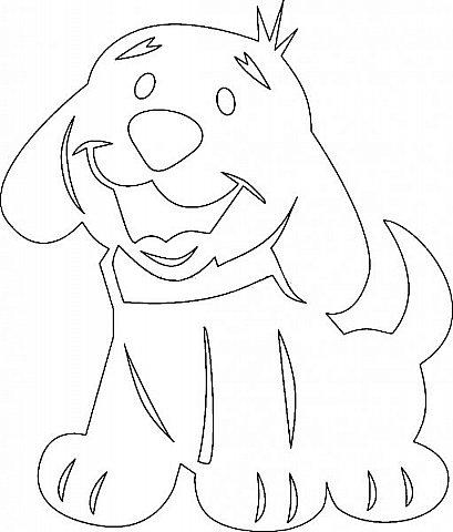 """Несколько лет ждала эта очаровательная собачка своей очереди,  обитая в моих """"картиночных"""" запасах...  Нарисовала шаблончик. И вот она - моя симпатяга - такая получилась. фото 4"""