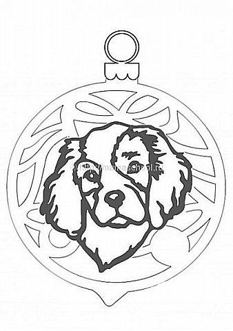 """Несколько лет ждала эта очаровательная собачка своей очереди,  обитая в моих """"картиночных"""" запасах...  Нарисовала шаблончик. И вот она - моя симпатяга - такая получилась. фото 36"""