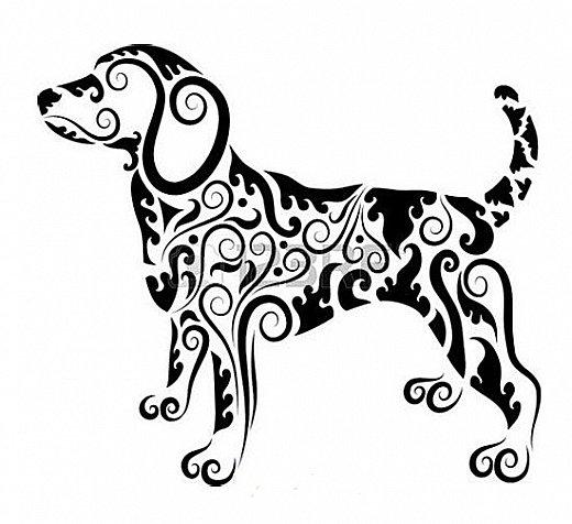 """Несколько лет ждала эта очаровательная собачка своей очереди,  обитая в моих """"картиночных"""" запасах...  Нарисовала шаблончик. И вот она - моя симпатяга - такая получилась. фото 34"""
