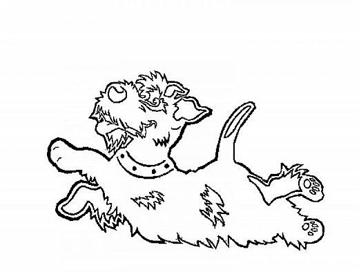 """Несколько лет ждала эта очаровательная собачка своей очереди,  обитая в моих """"картиночных"""" запасах...  Нарисовала шаблончик. И вот она - моя симпатяга - такая получилась. фото 32"""