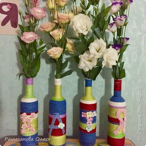 У дочки был день рождения - 5 лет! Я решила, что это будет цветочный день рождения, ведь она как все девочки - обожает цветы! Для этого я сделала из гофрированной бумаги большие цветы, вазы для цветов  с апельсинами, цифру 5 украсила цветами из салфеток, для фона сделала силуэт девочки и украсила его цветами, а также надпись с днем рождения. фото 2