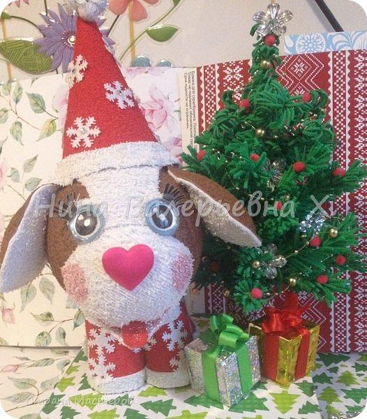 """представляю вашему вниманию новогоднюю композицию- """"Дружок готов к Новому году!"""" фото 37"""