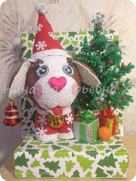 """представляю вашему вниманию новогоднюю композицию- """"Дружок готов к Новому году!"""" фото 1"""