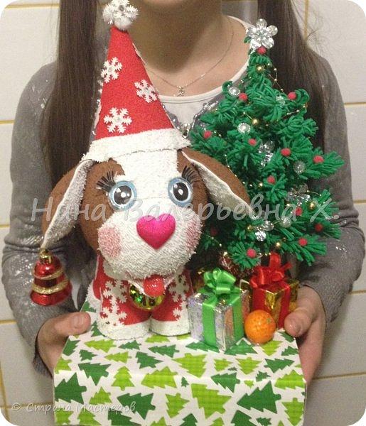 """представляю вашему вниманию новогоднюю композицию- """"Дружок готов к Новому году!"""" фото 39"""