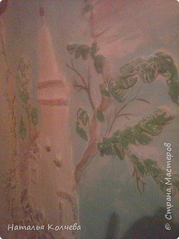 Это на стене сделано из шпатлевки и камушек ,ещё не раскрашено фото 3