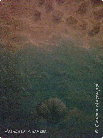 Это на стене сделано из шпатлевки и камушек ,ещё не раскрашено фото 8