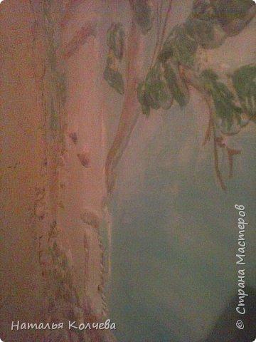Это на стене сделано из шпатлевки и камушек ,ещё не раскрашено фото 4