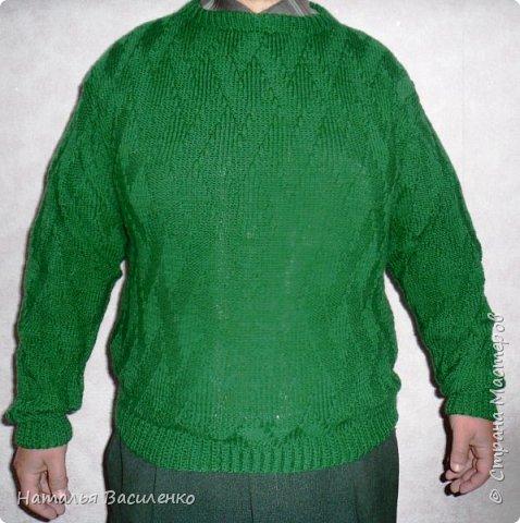 Вязание мужского свитера несложным узором фото 1