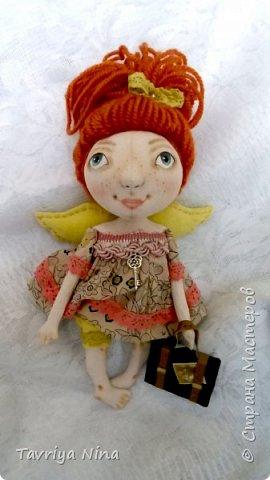 Кукла из бязи,расписана акриловыми красками. Высота-25 см. Голова и ручки поворачиваются.  фото 1