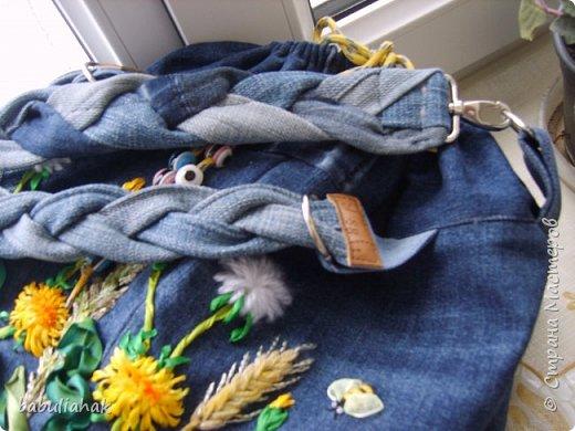 Сумочка из старых джинсов. фото 4