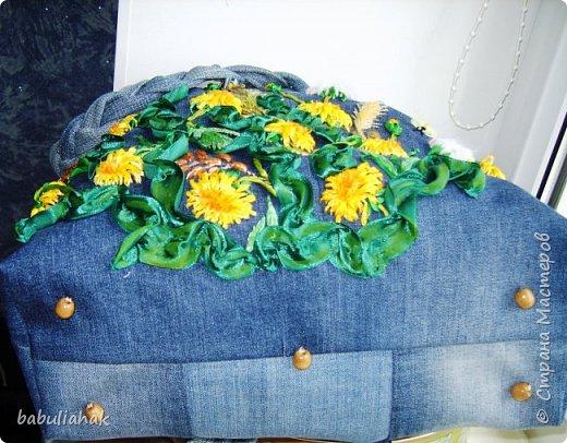 Сумочка из старых джинсов. фото 6