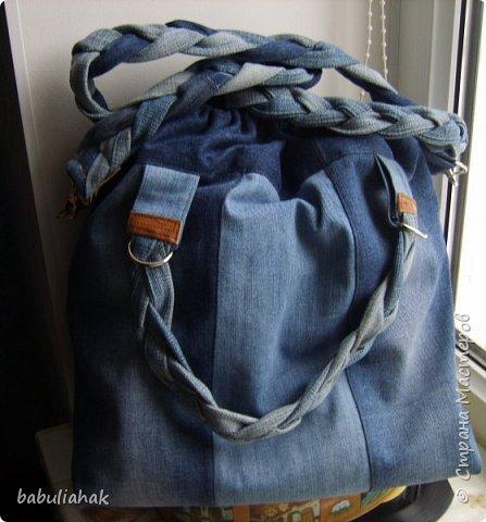 Сумочка из старых джинсов. фото 5