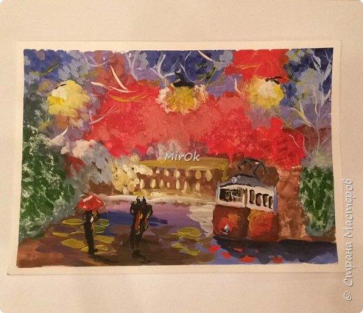 """Здравствуй """"Страна Мастеров"""" Хочу поделится рисунками своей дочки. Рисует она почти с пелёнок, ну 1,5 лет точно. Хочу показать вам некоторые рисунки: 1 Первый рисунок """"Сказки зимнего леса"""", рисовала в 10 лет в школу на конкурс, получила первое место. фото 21"""