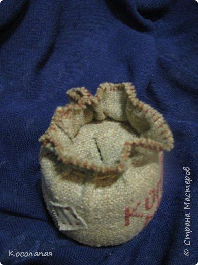 В прошлом году у нас в Беларуси по явились монетки. Ребенок попросил копилку. Задекорировала баночку. Получился вот такой мешочек. фото 3