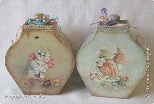 """Аааааааа, я тоже в числе победителей!!! Это мои """"Кошки-мышки"""" - набор коробов для моей кухни.  фото 1"""