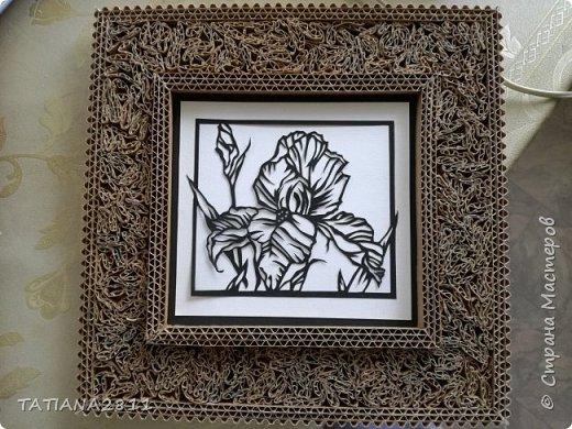 Картины вырезанные из бумаги, рамка из гофрокартона фото 5
