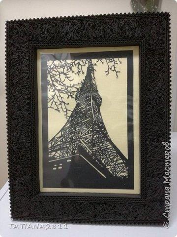 Картины вырезанные из бумаги, рамка из гофрокартона фото 2
