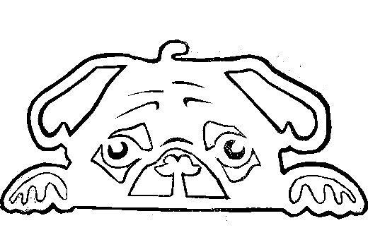 """Несколько лет ждала эта очаровательная собачка своей очереди,  обитая в моих """"картиночных"""" запасах...  Нарисовала шаблончик. И вот она - моя симпатяга - такая получилась. фото 39"""