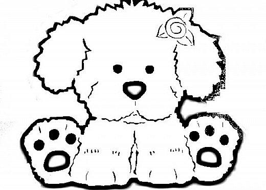 """Несколько лет ждала эта очаровательная собачка своей очереди,  обитая в моих """"картиночных"""" запасах...  Нарисовала шаблончик. И вот она - моя симпатяга - такая получилась. фото 42"""