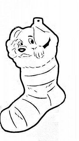 """Несколько лет ждала эта очаровательная собачка своей очереди,  обитая в моих """"картиночных"""" запасах...  Нарисовала шаблончик. И вот она - моя симпатяга - такая получилась. фото 40"""