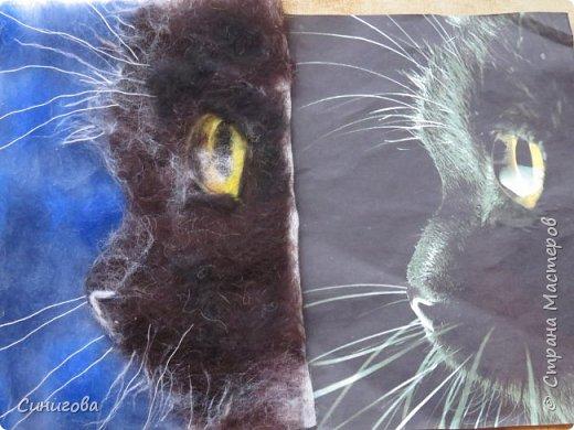 Петрова Марина- рисунок из шерсти фото 7