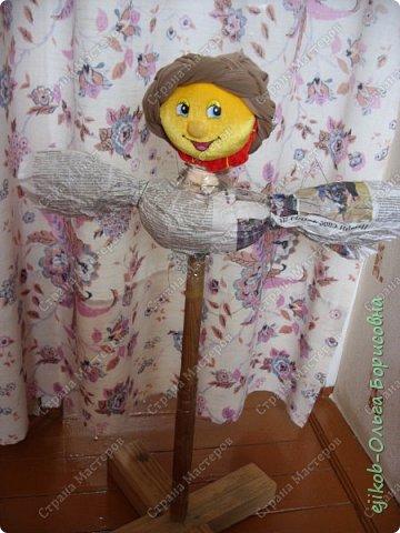 """Это наша кукла """"Масленица"""", которую мы сделали всей семьей к городскому конкурсу! (А фото оформили в открытку :)) фото 2"""