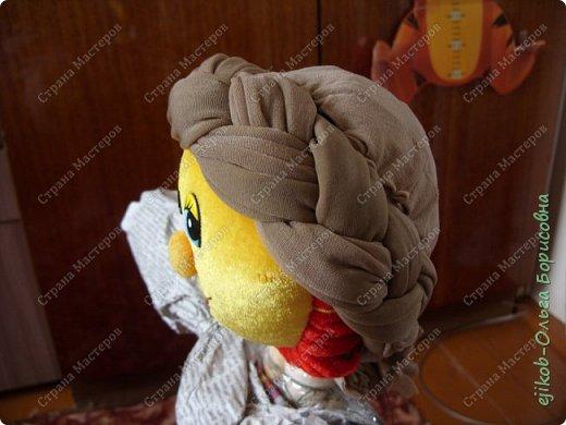 """Это наша кукла """"Масленица"""", которую мы сделали всей семьей к городскому конкурсу! (А фото оформили в открытку :)) фото 3"""