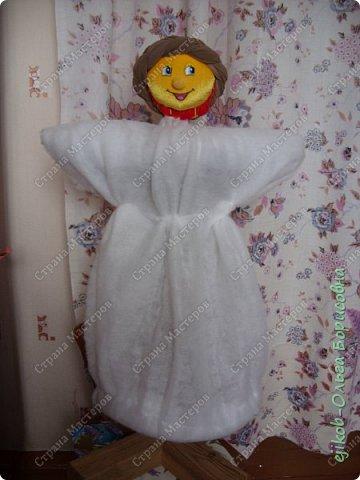 """Это наша кукла """"Масленица"""", которую мы сделали всей семьей к городскому конкурсу! (А фото оформили в открытку :)) фото 4"""