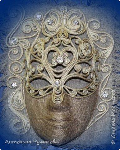 """Всем, заглянувшим ко мне в гости. хочу предоставить вашему вниманию маски интерьерные.родились спонтанно без эскизов, просто увидела и сделала ну очень хотелось. Маска  """" Снежанна"""" фото 1"""
