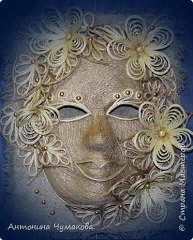 """Всем, заглянувшим ко мне в гости. хочу предоставить вашему вниманию маски интерьерные.родились спонтанно без эскизов, просто увидела и сделала ну очень хотелось. Маска  """" Снежанна"""" фото 2"""