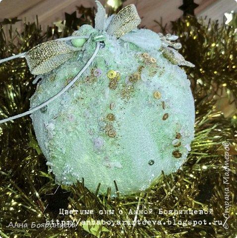 Всем привет!!!!! А сегодня шары мятные ( с зеленым оттенком) Действия все те же самые, только цвет другой. фото 5
