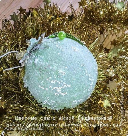Всем привет!!!!! А сегодня шары мятные ( с зеленым оттенком) Действия все те же самые, только цвет другой. фото 6
