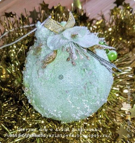 Всем привет!!!!! А сегодня шары мятные ( с зеленым оттенком) Действия все те же самые, только цвет другой. фото 4