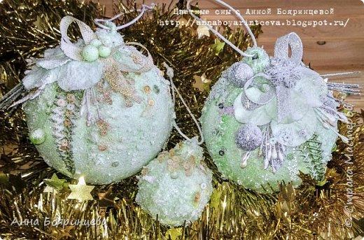 Всем привет!!!!! А сегодня шары мятные ( с зеленым оттенком) Действия все те же самые, только цвет другой. фото 1