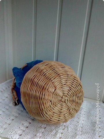Вот такой мешочек у меня получился.Давно хотела попробовать соединить вязание и плетение. фото 5