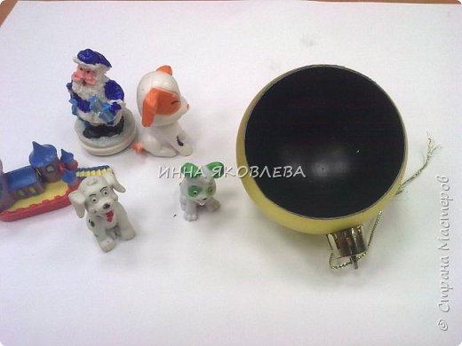Простым круглым шариком, даже если он очень красивый, теперь никого не удивишь. Как украсить шар снаружи знают все, я предлагаю украсить его внутри! фото 5