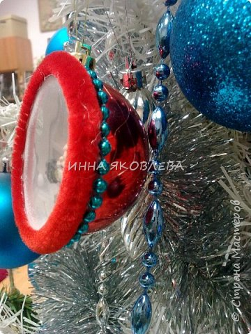 Простым круглым шариком, даже если он очень красивый, теперь никого не удивишь. Как украсить шар снаружи знают все, я предлагаю украсить его внутри! фото 2