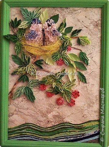 """Накопилось много работ в этой технике. Детям нравится создавать картины из жгутиков. Результаты работ меня тоже очень радуют)) Петрова Ксюша (10 лет) """"Прощальный привет от лета"""" фото 13"""