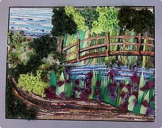 """Накопилось много работ в этой технике. Детям нравится создавать картины из жгутиков. Результаты работ меня тоже очень радуют)) Петрова Ксюша (10 лет) """"Прощальный привет от лета"""" фото 8"""