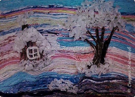 """Накопилось много работ в этой технике. Детям нравится создавать картины из жгутиков. Результаты работ меня тоже очень радуют)) Петрова Ксюша (10 лет) """"Прощальный привет от лета"""" фото 9"""