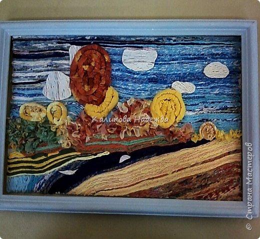 """Накопилось много работ в этой технике. Детям нравится создавать картины из жгутиков. Результаты работ меня тоже очень радуют)) Петрова Ксюша (10 лет) """"Прощальный привет от лета"""" фото 10"""