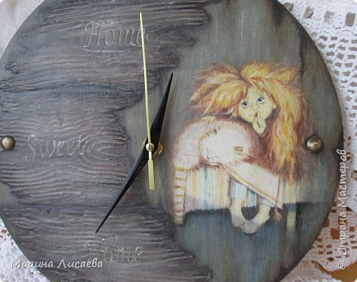 Здравствуйте, мои дорогие жители СМ!  Вчера отложила все дела и сотворила себе часы для кухни. фото 2