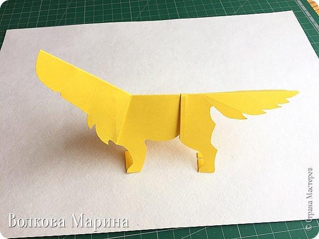 Каждый год я делаю новогодние открыточки. Так как 2018 год - это год Жёлтой Земляной Собаки. Поэтому я сделала открыточку с собачкой. Схемку я придумала сама. Вот такая она у меня получилась: фото 8