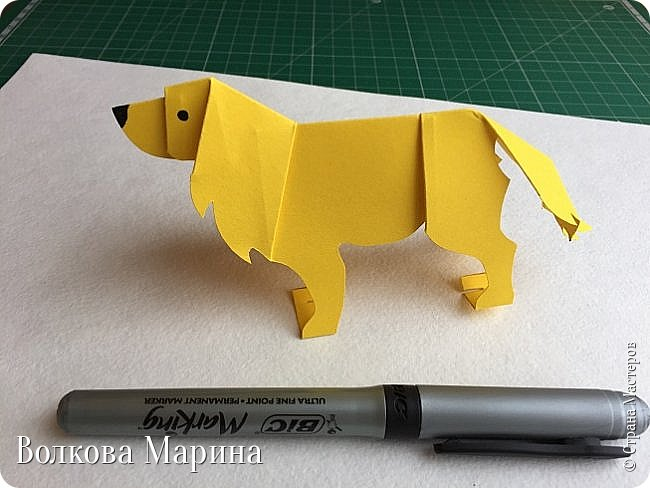 Каждый год я делаю новогодние открыточки. Так как 2018 год - это год Жёлтой Земляной Собаки. Поэтому я сделала открыточку с собачкой. Схемку я придумала сама. Вот такая она у меня получилась: фото 14