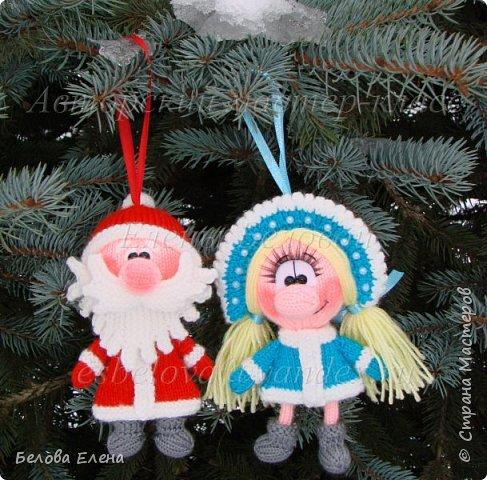 Дед Мороз и Снегурочка (ёлочные игрушки)