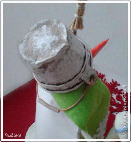 Доброго всем дня! Срочно понадобилась поделка на новогоднюю тему, а времени как всегда в обрез. Решила по-быстрому повторить увиденных когда-то в СМ снеговиков из жестяных банок от различных напитков . Поиском нашлись мои вдохновители: Наташа Скво https://stranamasterov.ru/node/857217 Аня Даша https://stranamasterov.ru/node/1121368 Yagodka74 https://stranamasterov.ru/node/1123255 Спасибо вам огромное!  фото 4